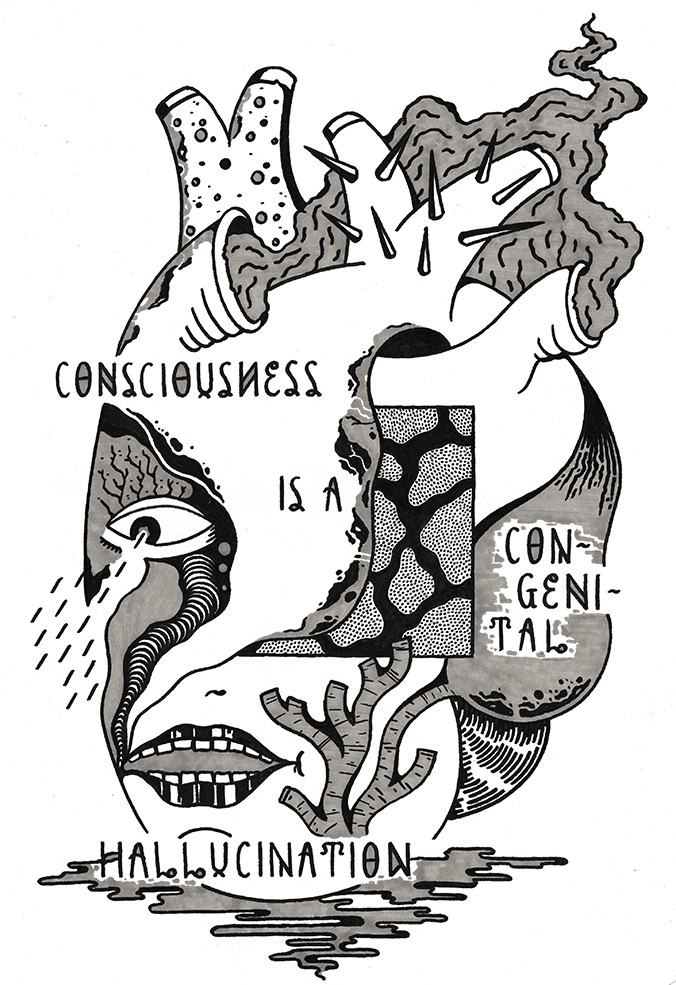 CONSCIOUSNESS IS A CONGENITAL HALLUCINATION